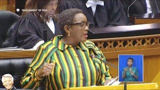 Minister Bathabile Dlamini mocked in Parliament By EFF And DA. SASSA