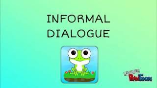 informal communication dialogue - मुफ्त ऑनलाइन