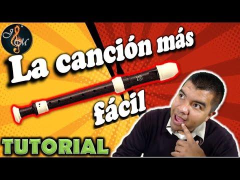 , title : 'Como tocar LA CANCIÓN MAS FACIL en flauta dulce con notas (Fácil)'