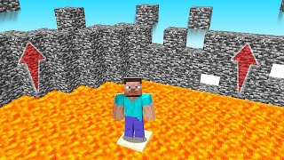 Minecraft BUT BEDROCK Is RISING EVERY Minute! (insane)