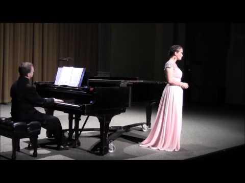 Me singing Von Ewiger Liebe by Brahms