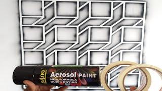 Wall Painting Geometric 3D Patterns