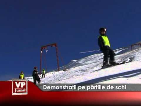 Demonstraţii pe pârtiile de schi