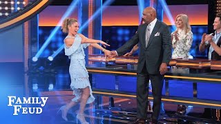 Check out Steve's smooth 'DWTS' moves! | Celebrity Family Feud