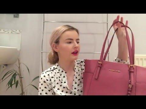 What's In My Bag? | Michael Kors Jet Set Tote | Katie B