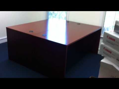 Bush office desk assembly service video in fall church va by Furniture Assembly Experts LLC
