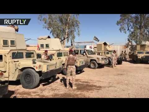 Iraqi troops & militia deployed to secure Syrian border from ISIS