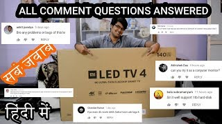 Xiaomi Mi TV 4, 55 inch 4K HDR TV | ALL COMMENT QUESTIONS ANSWERED| TECH INFO # 37