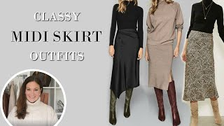 6 CLASSY Ways To Style Your Midi Skirts This Winter | Fashion Over 40