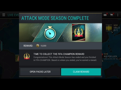 Video FIFA MOBILE ATTACK MODE SEASONS FIFA CHAMPION MONTHLY REWARDSSSS!!!!!! + 97 DAVID ALABA!!!!!