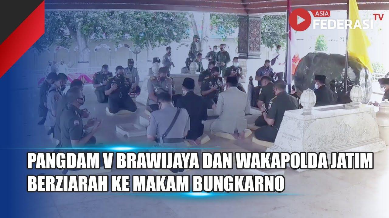 Peringati Hari Pancasila, Pangdam V Brawijaya dan Wakapolda Berziarah Ke Makam Bung Karno