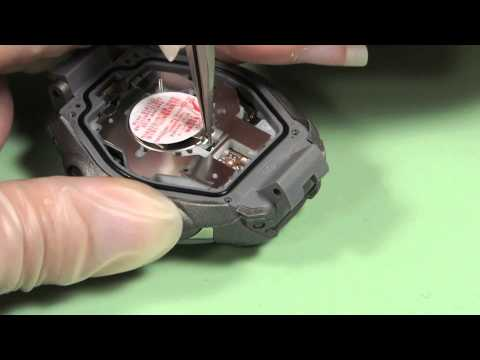 How to Change a CTL1616 Rechargeable Watch Battery in a Casio G-Shock