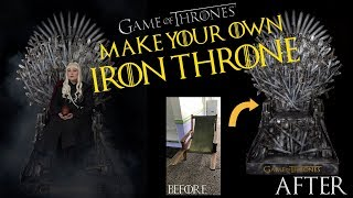 Make your own Life-Size Replica Iron Throne!