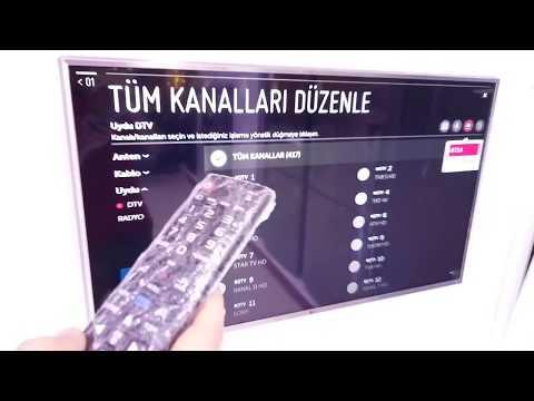 LG TELEVİZYONLARA KANAL LİSTESİ YÜKLEME, KANAL SIRALAMASI DEĞİŞTİRME VE KANAL SİLME
