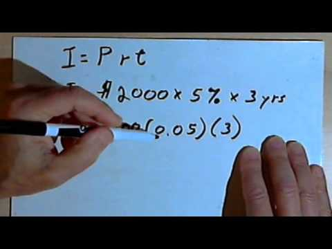Video Calculating Simple Interest 127-4.18
