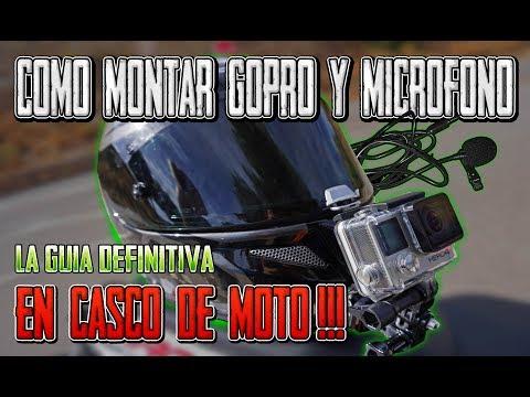 COMO MONTAR GOPRO & MICROFONO EN CASCO DE MOTO - LA GUIA DEFINITIVA