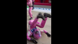 Lance Stroll's Crazy Pit Stop Drama! #Shorts