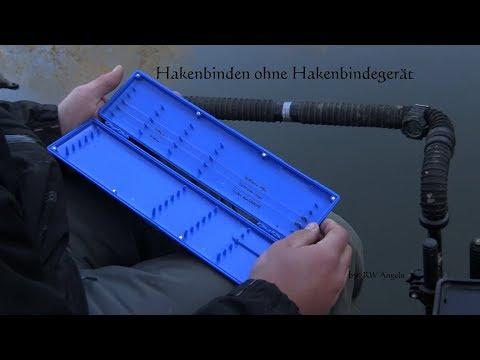 Angelhaken binden ohne Hakenbindemaschine, Haken per Hand binden