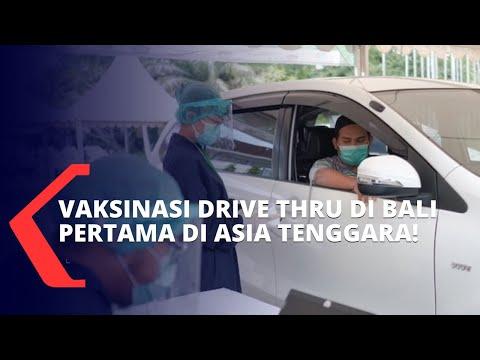 Digelar di Bali, Indonesia Jadi Negara Pertama di Asia Tenggara yang Terapkan Vaksinasi Drive Thru