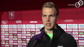Jeroen Houwen en Thomas Letsch na Twente-Vitesse