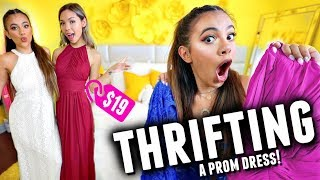 TRYING ON THRIFTED PROM DRESSES ALL UNDER $19!! *success*
