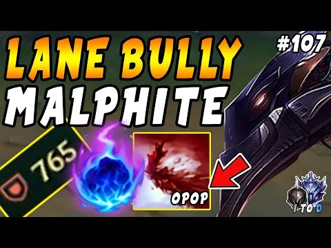 Malphite with Comet + Manaflow Band + Doran's Ring = BIG Lane BULLY! | Iron IV to Diamond Ep #107