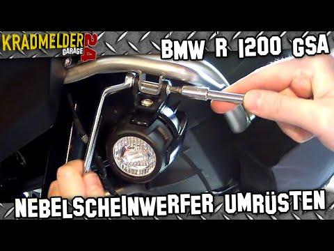LED-Nebelscheinwerfer montieren ✫ BMW 1200 GS 🔧 Kradmelder 24 Garage