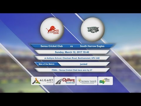 Video Sensa Cricket Club VS South Harrow Eagles - 12-Mar-2017