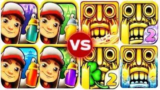 Temple Run 2 vs Subway Surfers Epic Run Full Gameplay HD