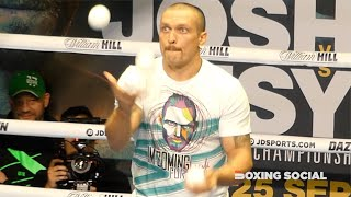 """""""I'M COMING FOR YOU!"""" Oleksandr Usyk shows juggling skills wearing t-shirt with message to Joshua"""