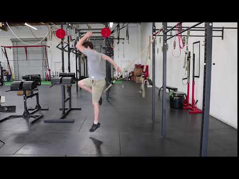 Jumping TRX Suspended  Lunges