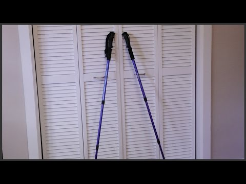 Setting Up Hiking Poles