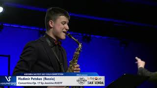 Vladimir Petskus plays Concertino by J. RUEFF – Andorra Sax Fest FINAL ROUND