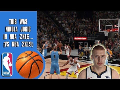 This Was Nikola Jokic In NBA 2K16...(vs NBA 2K19)