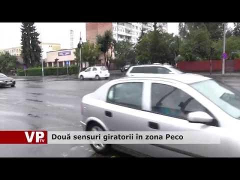 Două sensuri giratorii în zona Peco