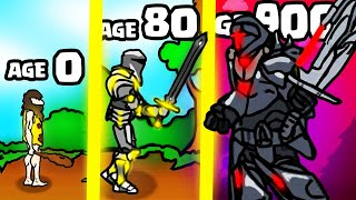 IS THIS THE HIGHEST AGE STRONGEST KNIGHT WARRIOR EVOLUTION? (9000+ LEVEL UPGRADE) l Age of War