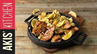Grilled Pancetta & Baked Potato Salad   Akis Kitchen