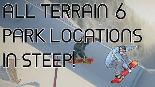 ALL 6 TERRAIN PARK SPOTS IN STEEP!