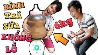 Tony | Thử Làm Bình Trà Sữa Em Bé Khổng Lồ   Huge Botle Of Tea With Milk