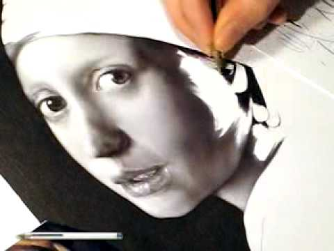 Artist recreates a masterpiece using a single pen — Bic® competition