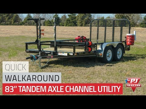 2021 PJ Trailers 83 in. Tandem Axle Channel Utility (UL) 18 ft. in Kansas City, Kansas - Video 1
