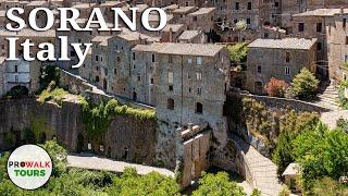 Sorano, Italy Walking tour - The Matera of Tuscany [4K | 50fps]