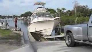 Grady White 36 Extreme Boat Launch
