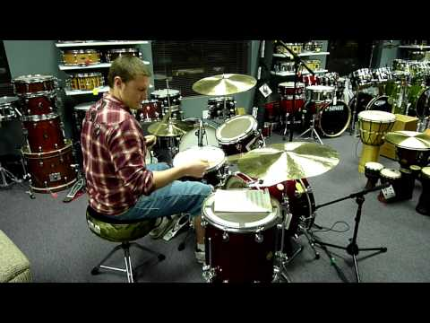 Elvin Jones-inspired jazz comping exercise lesson video.