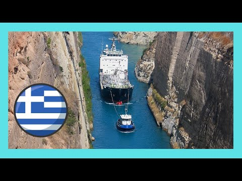 Corinth Canal (GREECE): A ship passing t