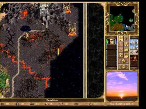 Герои меча и магии 5 карта закат короля