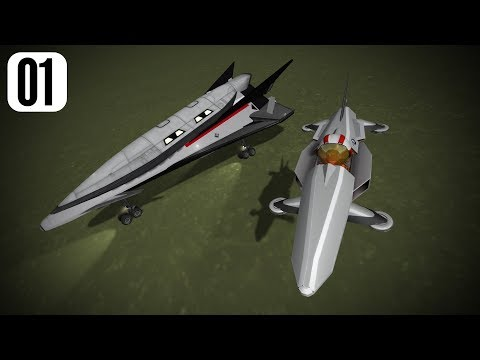Laythe base part 1 - Hoverbike and Spaceplane.