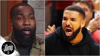 Kendrick Perkins Reacts To Drake's Sideline Actions During Raptors Vs. Bucks  The Jump