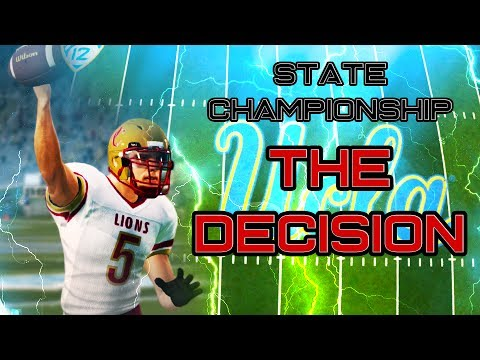 COLLEGE DECISION AND STATE CHAMPIONSHIP!!! | NCAA 14 RTG Ep. 4