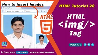HTML video tutorial - 28 - html img tag